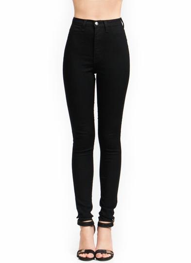 High-Waisted-Skinny-Jeans BLACK INDIGO - GoJane.com