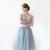 "Gretta Tulle Skirt - Dusty Blue - 30"" Length — Alexandra Grecco"