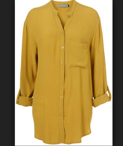 blouse mustard shirt style