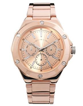 ASOS   ASOS – Boyfriend-Uhr mit Schraubenverzierung bei ASOS