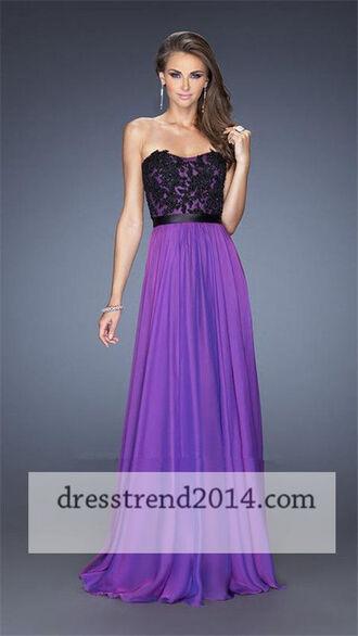 dress prom dress chiffon long prom dress evening dress sweetheart dress formal dress wedding dress homecoming dress purple dress
