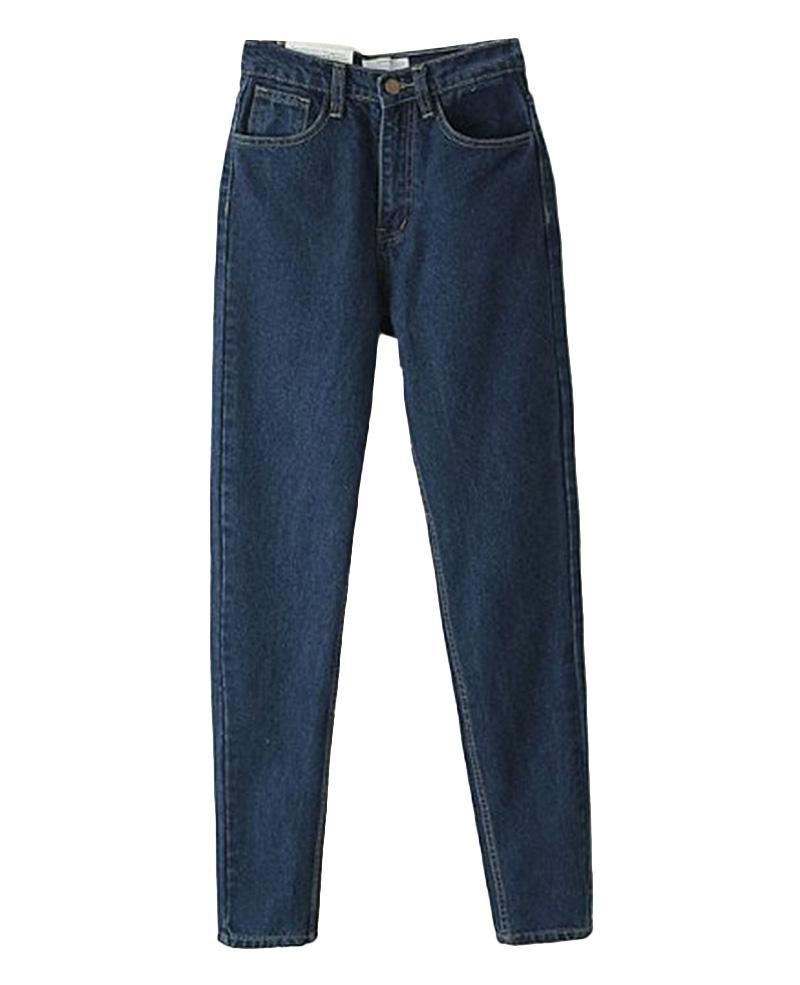 Vintage High-rise Long Harem Jeans   BlackFive