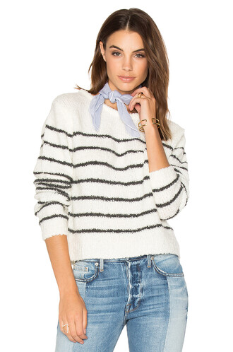 sweater striped sweater white