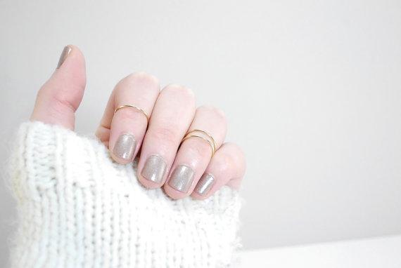 Anneau portefusée  14K or rempli knuckle or knuckle par Fitzberries