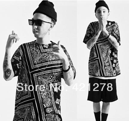 La rhude bandana ktz flowerscashew 2014 fashion brand designer HARAJUKU short sleeve t shirts men tops tee 3 colors 5XL-in T-Shirts from Apparel & Accessories on Aliexpress.com
