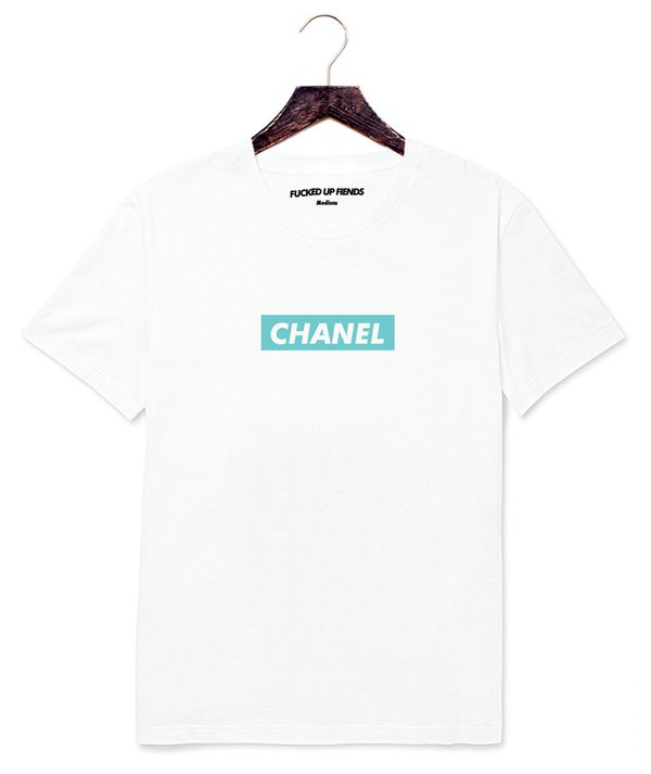 t-shirt chanel tiffany white cotton supreme married to the mob mob chanel