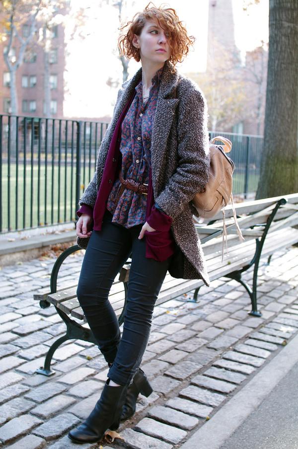 de lune shirt belt sweater coat jeans shoes jewels