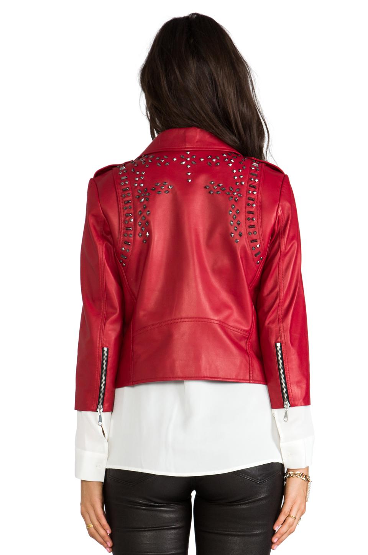 Rebecca Minkoff Embellished Wes Moto Jacket in Lipstick | REVOLVE
