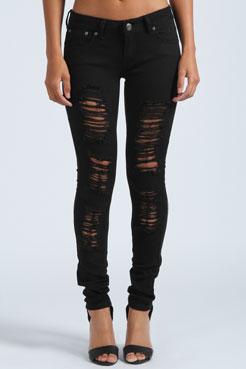 Chloe Ripped Skinny Jeans at boohoo.com