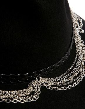 ASOS | ASOS Felt Fedora Hat With Braid & Chain Trim at ASOS