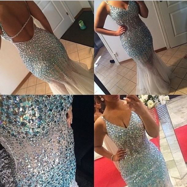 dress sequin prom dress