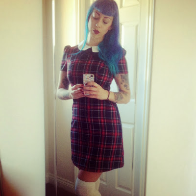 Little Miss Delicious: What I Wore Today: Dress Invasion of the Tartan Persuasion
