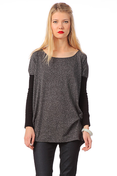 Top avec lin Carmin Gris Gat Rimon  sur MonShowroom.com