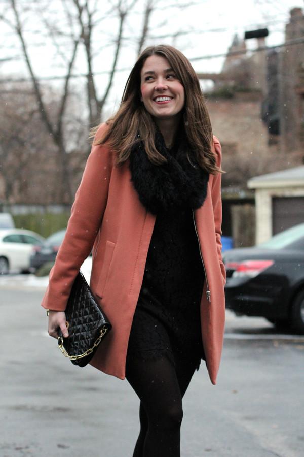 sequins and stripes coat dress bag shoes