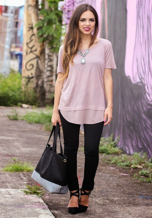 nany's klozet t-shirt pants jewels bag jacket shoes