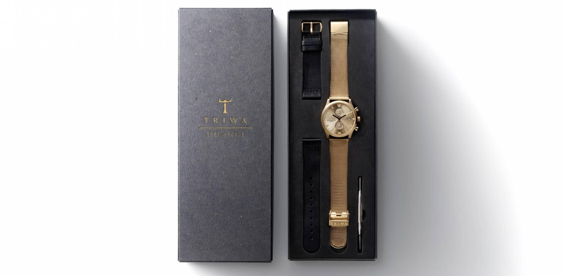 TRIWA - Watch - Sort of Black Gold Chrono
