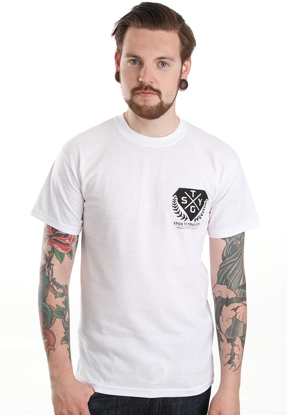 Stick To Your Guns - All Talk No Walk White - T-Shirt Merch Store - Impericon.com UK
