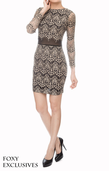 Mod Lace Shift Dress in Black - Online Fashion Boutique in Singapore | Foxy Fame