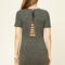 Lace-up back t-shirt dress - t-shirt   tunic - 2000235818 - forever 21 eu english