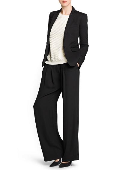 MANGO - CLOTHING - Coats - Crepé palazzo trousers