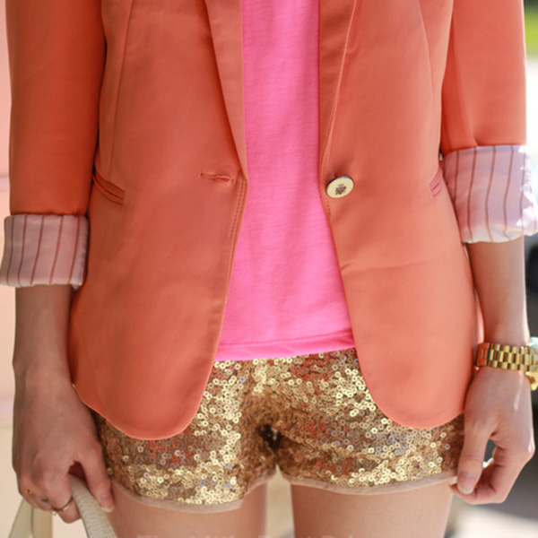 Bling Bling Gold Embellished All Over Sexy Party Sequin Shorts Hot Pants Skirt | eBay