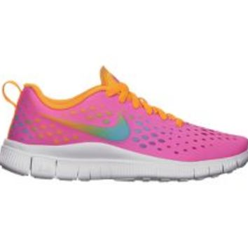 Nike Free Express 3.5y-7y Girls' Running Shoes - Pink Glow on Wanelo