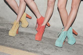 shoes jeffrey campbell jeffrey campbell lita pastel high heels heels boots laces cute platform shoes platform heels ankle boots high heels boots