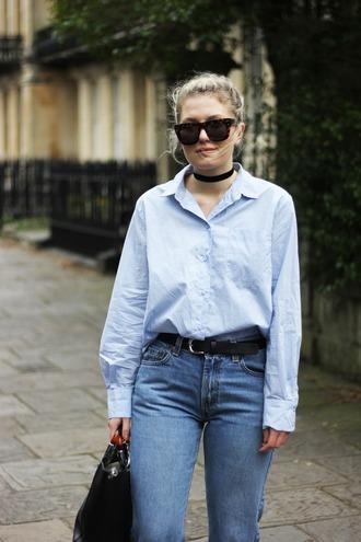 maisie ivy blogger shirt jeans shoes socks bag belt sunglasses