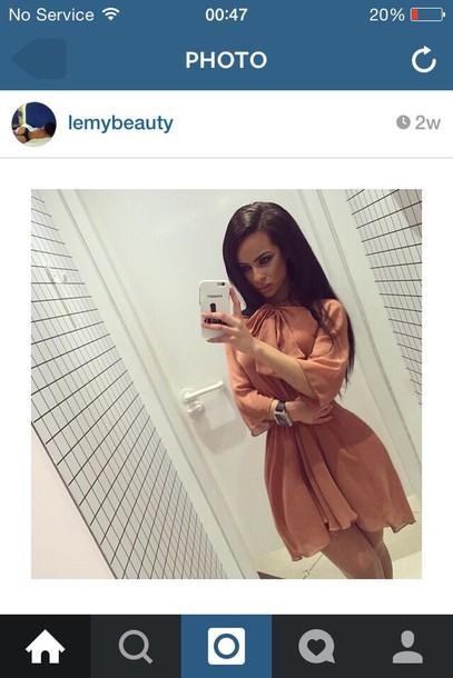 dress short elegant lemy lemybeauty pink dress