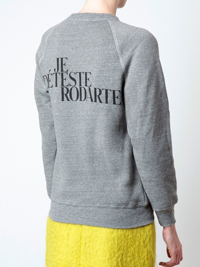 Rodarte 'love Hate' Sweatshirt - Browns - Farfetch.com