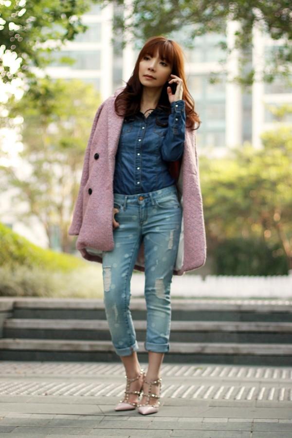 mochaccinoland coat shirt jeans