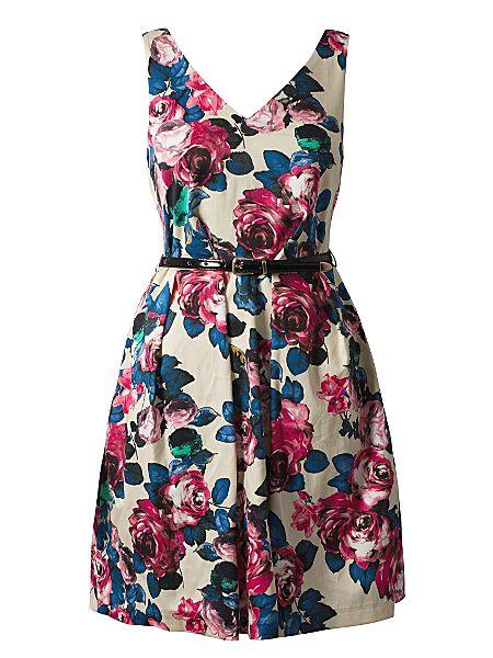 Closet V front and back floral dress Multi-Coloured - House of Fraser
