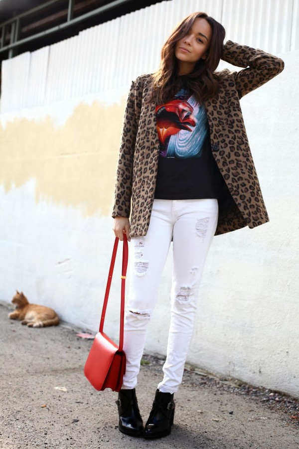 ring my bell shirt jeans coat bag shoes