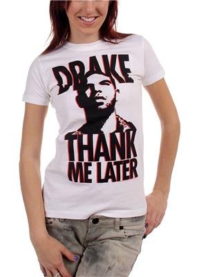 Drake - Thank Me Later Womens T-Shirt In White