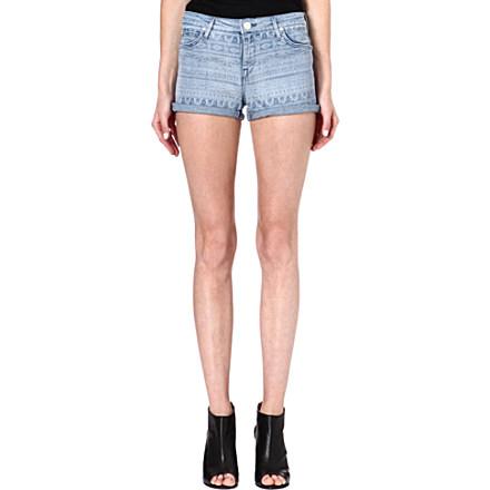 LEE - Aztec-print denim shorts   Selfridges.com