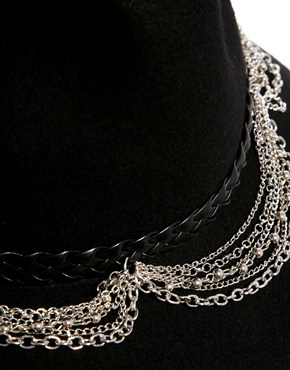 ASOS   ASOS Felt Fedora Hat With Braid & Chain Trim at ASOS