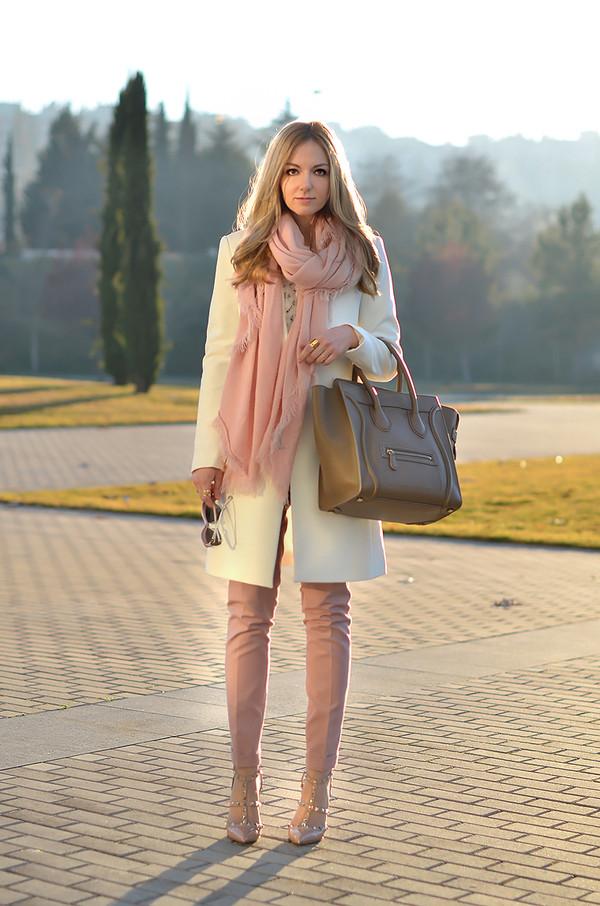 oh my vogue coat pants sweater bag shoes jewels sunglasses