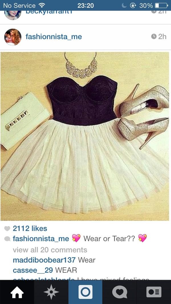 dress black cream prom instagram