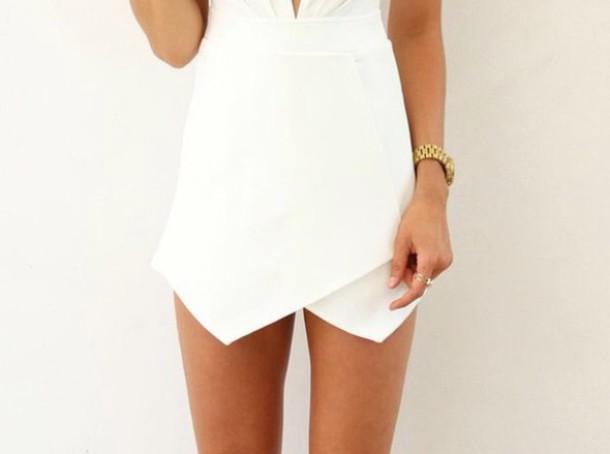 skirt shorts skorts white