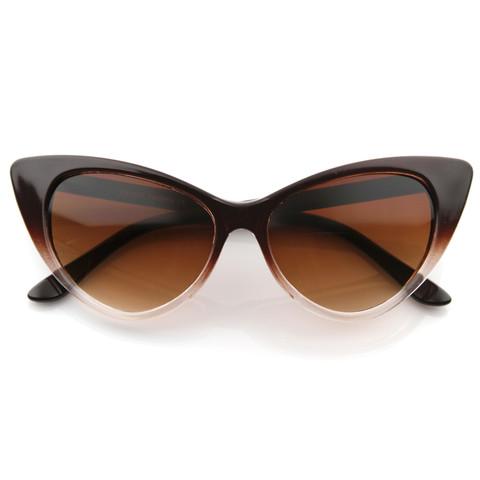 Retro 1950's Pointed Cat Eye Fashion Sunglasses 8571                           | zeroUV
