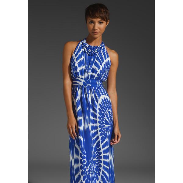 Milly Spin Art Sari Beaded Hostess Dress - Polyvore