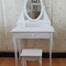 New white dressing room table with oval mirror and stool bedroom writing desk | ebay