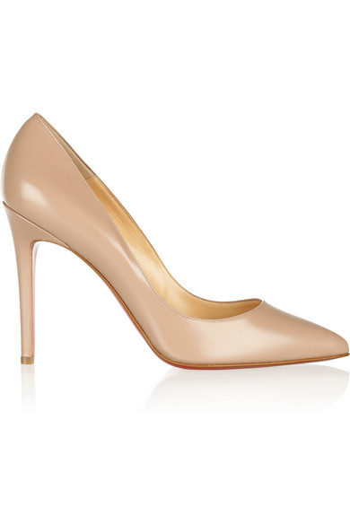 Christian Louboutin|The Pigalle 100 polished-leather pumps|NET-A-PORTER.COM