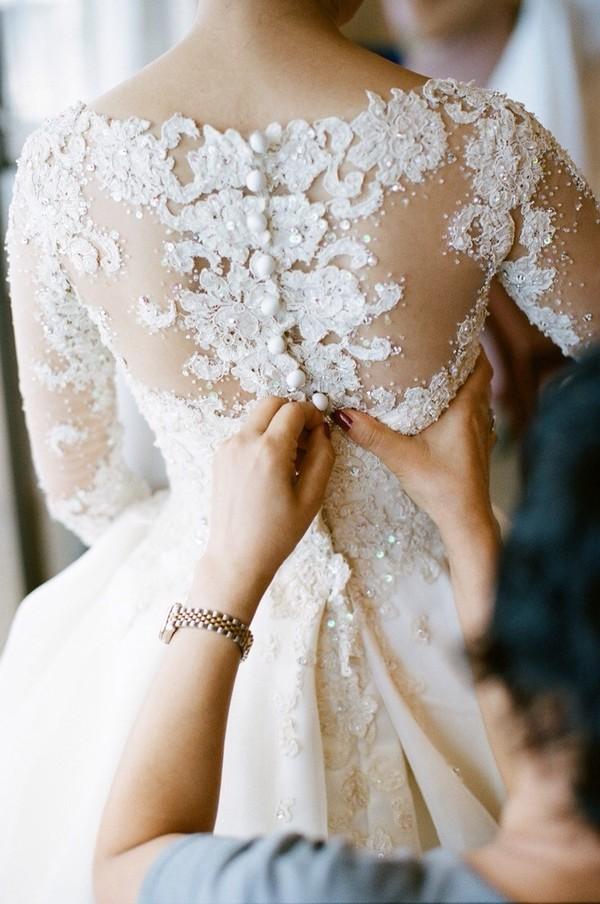 dress wedding dress lace top wedding dress vintage wedding dress buttons lace