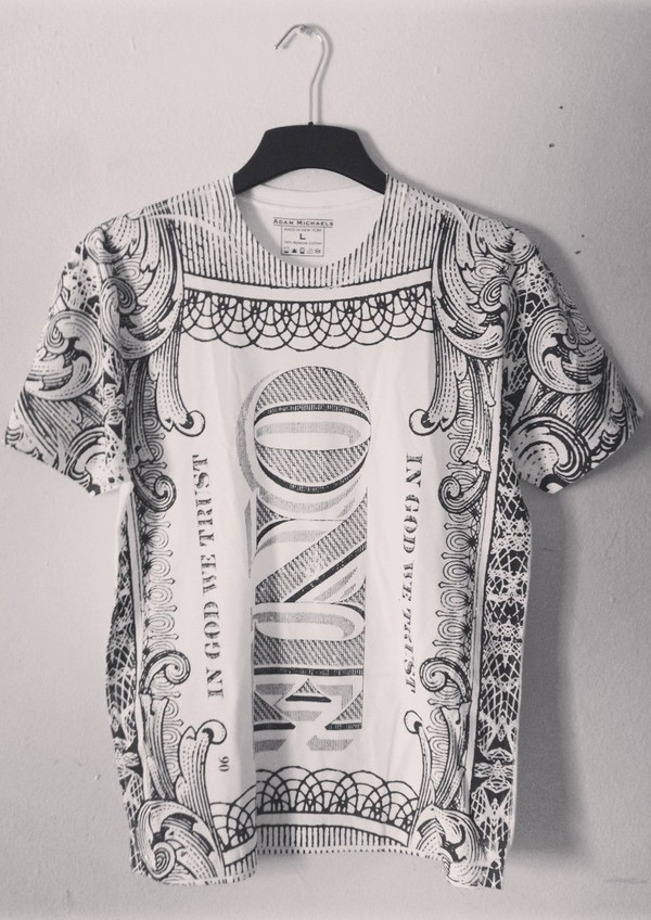 shirt currency money dollar lazy tags