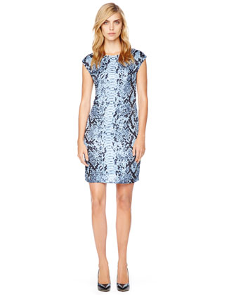MICHAEL Michael Kors  Studded Python-Print Dress - Michael Kors