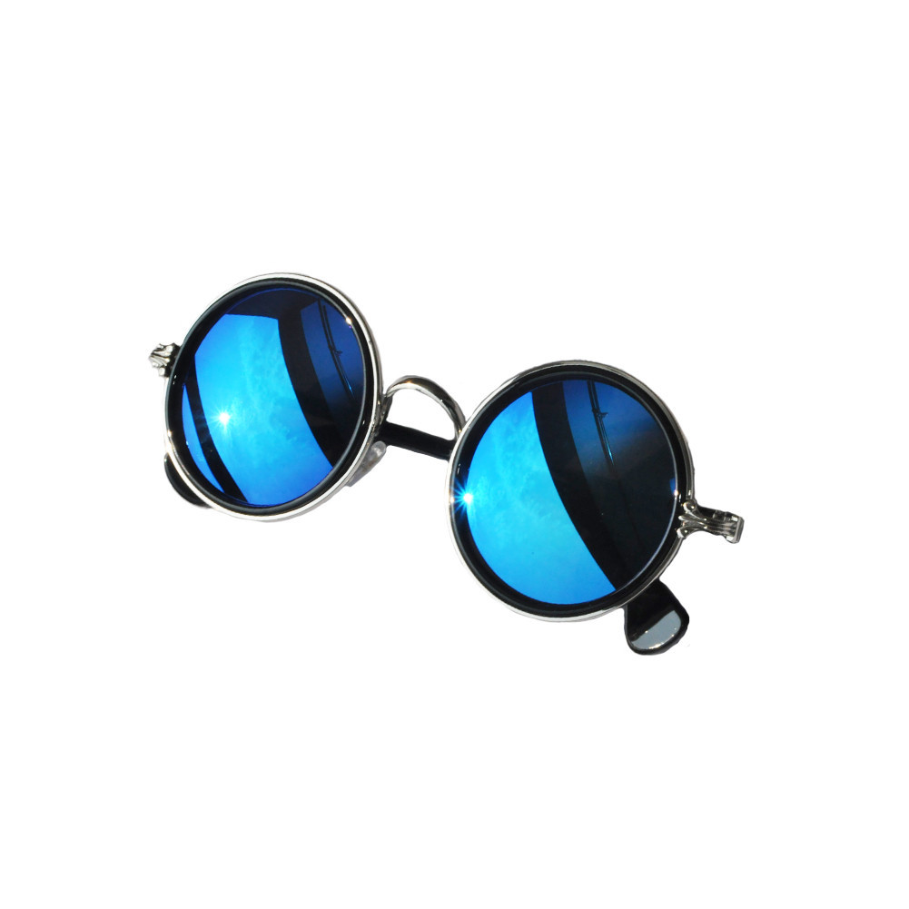 BLUE REFLECTION ROUND SUNGLASSES / back order – HolyPink