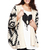 ROMWE | ROMWE Off-white Oversized Aztec Tribal Cardigan, The Latest Street Fashion