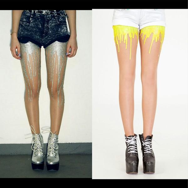 pants dripping melting tights