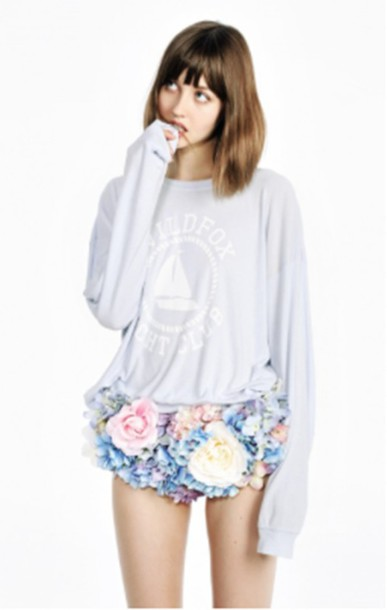 shorts wildfox flowers